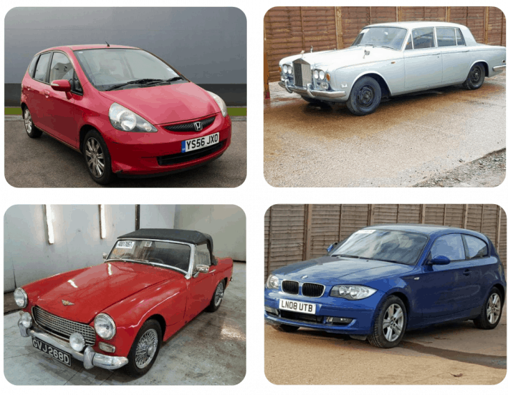 Some cars we've sent to auction rather than car disposal