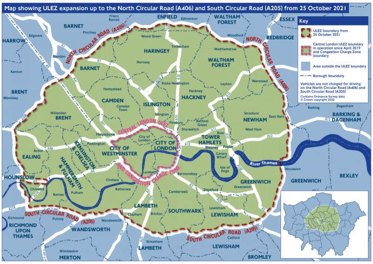 ULEZ expansion map
